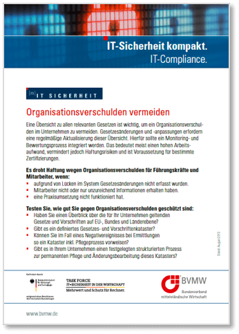 BVMW mIT Sicherheit kompakt IT-Compliance