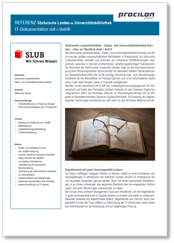 procilon Referenz SLUB it-dokumentation i-doit