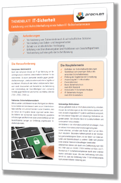 Downloads Themenblatt IT-Sicherheit